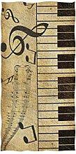 linomo Handtuch Musiknoten Klaviertuch Baumwolle