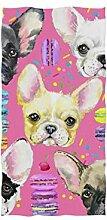 linomo Handtuch Süß Französische Bulldogge