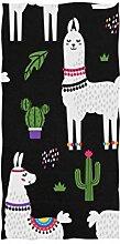 linomo Handtuch Süß Lama Kaktus Handtuch