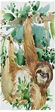 linomo Handtuch Tropisch Baum Blätter Faultier