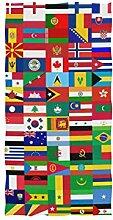linomo Handtuch Welt Flagge Pädagogisch Handtuch