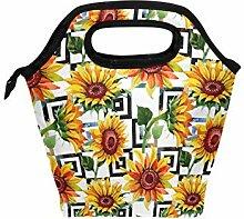 linomo Lunch Tasche Blumen Blume Sonnenblume Lunch