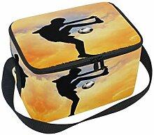 linomo Lunch Tasche Fußball Spieler Lunch Bag,