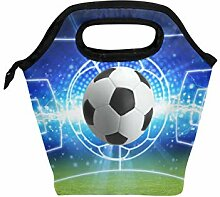 linomo Lunch Tasche Galaxis Fußball Sport Ball