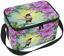 linomo Lunch Tasche Kolibri Blumen Blume Lunch