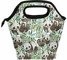 linomo Lunch Tasche Süß Tier Panda Bambus Lunch