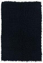 Linon Flokati Teppich, 60 x 150 cm, Schwarz