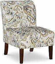 Linon Karen Curved Back Slipper Chair Stuhl, Holz,