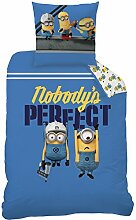 LINON Kinder Wende BETTWÄSCHE Minions Perfect