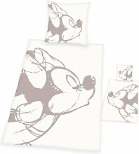 Linon-Kinderbettwäsche Minnie Mickey Mouse &