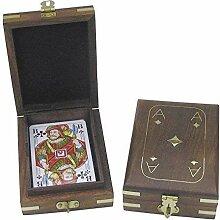 linoows Edle Spielkarten Box mit Klappdeckel,