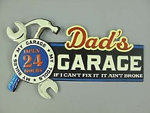 linoows G3836: Retro Blechschild Dad`s Garage,