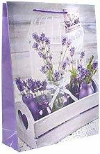 linoows G6508: 10 Große Geschenktüten Lavendel,
