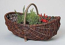 linoows Gartenkorb, Kaminholzkorb, Antiker