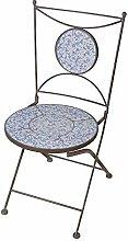 linoows Gartenstuhl Barock, Stuhl mit krakelierten