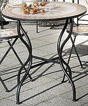 linoows Gartentisch Florenza, Mosaik Möbel im