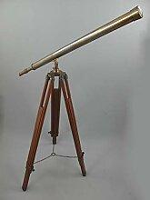 linoows Großes Teleskop Fernrohr auf Holz Stativ,