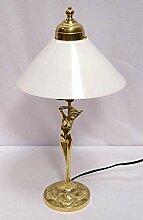 linoows Jugendstil Tischlampe, Messing Lampe,