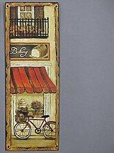 linoows Nostalgie Blechschild, Bakery mit Fahrrad,