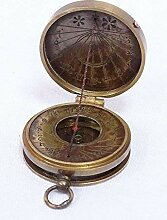 linoows Pocket Sundial Kompass, Sonnenuhr- Kompass