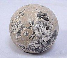 linoows Rosenkugel, Terrakotta Gartenkugel mit