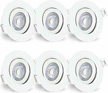linovum® 6er LED Einbaustrahler Set mit