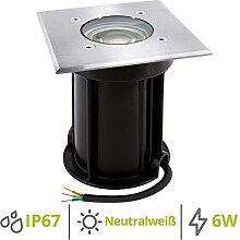 linovum BOQU Bodenleuchte aussen IP67 LED GU10 6W