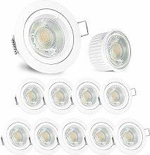 linovum® Downlight LED flach Einbaustrahler 10er