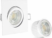 linovum® Extra flache LED Einbaustrahler 10er Set