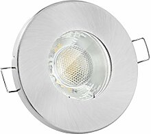 linovum Feuchtraum LED Einbaustrahler 6W flach