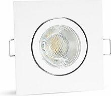 linovum® LED Einbauleuchte eckig weiß schwankbar