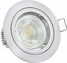 linovum LED Einbauleuchte gebürstet rund