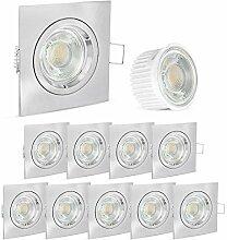 linovum® LED Einbaustrahler 10er Set extra flach