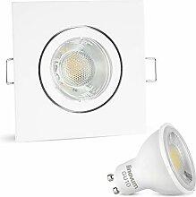 linovum LED Einbaustrahler 230V eckig weiß
