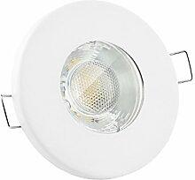 linovum® LED Einbaustrahler 3W flach IP65 weiß