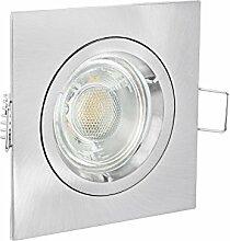 linovum® LED Einbaustrahler eckig Edelstahl Optik