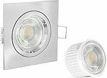 linovum® LED Einbaustrahler flach (36mm) eckig