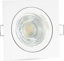 linovum® LED Einbaustrahler weiss eckig starr