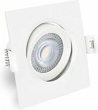 linovum® LED Einbaustrahler weiss & schwenkbar
