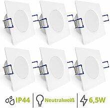 linovum WEEVO 6er Set flache LED Einbaulampen Bad