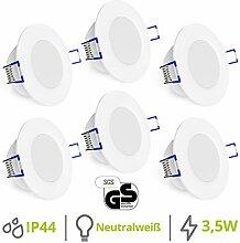 linovum® WEEVO 6er Set IP44 Einbaustrahler LED
