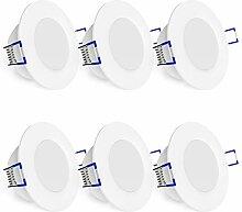 linovum WEEVO 6er Set IP44 Einbaustrahler LED 230V