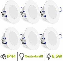 linovum WEEVO 6er Set runde LED Einbaustrahler
