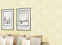 LINQZ 3D gepr?gtes Vlies Tapete Tapete Funktionen Wohnzimmer Schlafzimmer TV Pers?nlichkeit Typ Hintergrundbild,Elegante gelbe 17402,Nur die Tapete