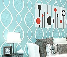 LINQZ 3D zuf?llige Streifen Vliestapete Schlafzimmer Wohnzimmer Studie TV Hintergrund Wallpaper Hintergrundbilder,Leichte blaue Q17202,Nur die Tapete