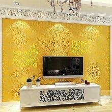 """LINQZ Kontinentale einfache Vliestapete dreidimensionalen Relief Effekte von ¹¹´Ê³É·Ö¡£ verl?sst das Schlafzimmer Wohnzimmer Wand zu Wand TV Wand Hintergrundpapier,Aprikose """"""""Vlies 7032"""""""",Nur die Tapete"""