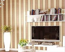 """LINQZ Moderne minimalistische gr¨¹ne vertikale Streifen Tapete Klebstoff verklebt Tuch str?mten Tapete Wohnzimmer TV Hintergrund setzen die Schlafzimmer Tapete,Kaffee Lichtfarbe """"""""70531"""""""",Nur die Tapete"""
