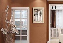 LINQZ Nat¨¹rlicher gr¨¹ner Seide Vlies schlicht Wohnzimmer Tapete Schlafzimmer Den TV Hintergrund in Volltonfarbe mit Tapete bedeckt,Kupfer-Gold-20,Nur die Tapete