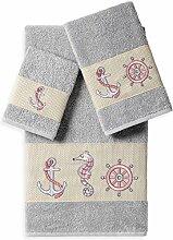 Linum Home Textiles Easton Handtuch-Set, 3-teilig,