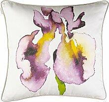 Linum Iris Kissenhülle F18 creme mit lila